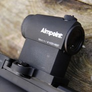 The Aimpoint Micro H-1 is a compact and lightweight red dot sight that pairs perfectly with AR-15s.