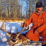 Milo Hanson with his record-breaking buck. Twenty years later, this deer still retains its title.