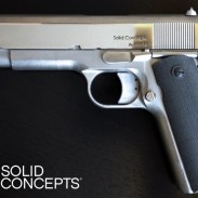 A 1911 pistol constructed by Solid Concepts Inc.