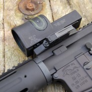 The Trijicon Reflex RX30 and quick-detach mount on an AR-15. The author found the RX30 to be a well-made and effective close quarters sighting solution.