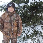 Bass Pro Shops' Mountain Stalker Elite jackets and bibs for kids are great choices for cold weather. They are wind and waterproof as well as warm. Even better, they stand up to an eight-year-old boy! Image by Derrek Sigler.