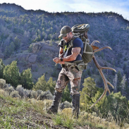 Cameron Hanes returning from another successful hunt in elk country. Image courtesy Lee Kjos/ Tenzing.