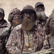 Phil Robertson (center) and the cast of 'Duck Dynasty.'