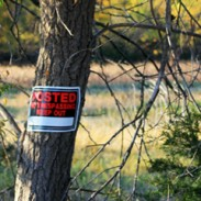 Hunters must ask for permission before hunting on private land.