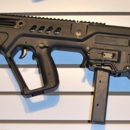 A Tavor SAR converted using the new 9x19mm kit.