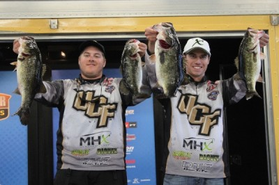 Kyle Oliver and Hunter McKamey of the University of Central Florida win the Carhartt Bassmaster College Series Southern Regional on Lake Okeechobee with a two-day total of 39-12.