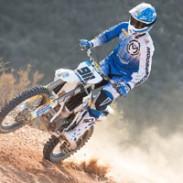 Jacob Argubright of Husqvarna racing.