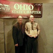 Scott Zody, Chief of the Ohio Division of Wildlife and State Wildlife Officer Matthew Leibengood.