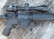 The Nikon P-223 3-9x40 BDC 600 scope mounted on an AR-15.