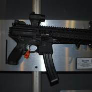 The SIG Sauer MPX Pistol. Note that the gun does not fire from an open bolt, but that the bolt is simply locked back on an empty magazine in this picture.