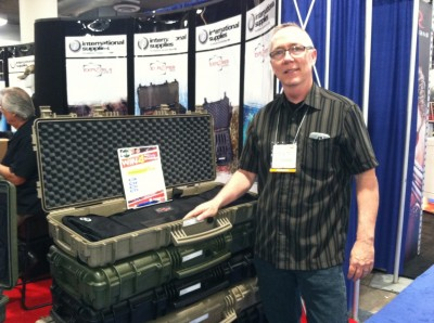 Michael Tabor, a non-hunter and non-shooter, attended his first SHOT Show this year. Quite surprised by the size and scope of the show, and professionalism of the attendees, he did a 180 and picked up an NRA membership application. Image by K.J. Houtman.