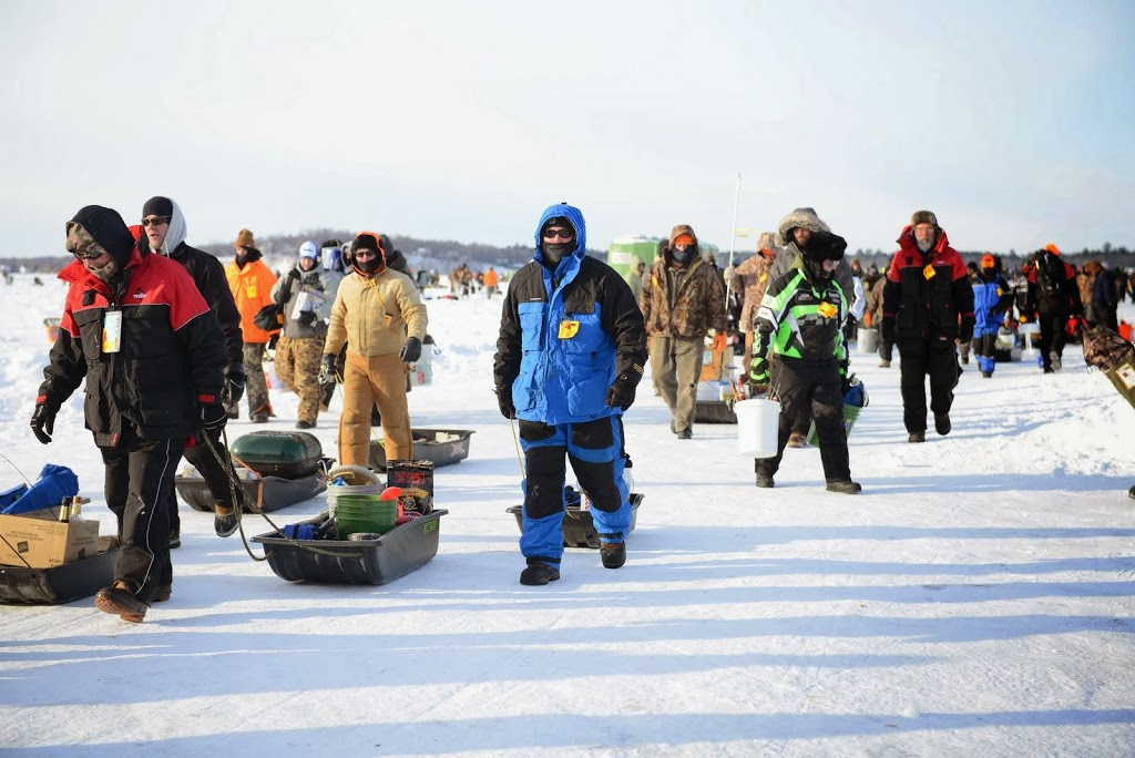 Thousands brave frigid weather to attend world 39 s largest for Ice fishing tournaments mn