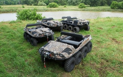 Argo's new vehicles are available in the Mossy Oak pattern.