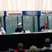 Bassmaster Classic and FLW World Champions (from left to right) Dion Hibdon, George Cochran, and David Fritts shared their expertise at a panel at the Indianapolis Boat, Sport and Travel Show.