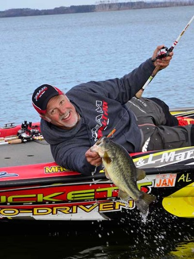 Duckett says that Guntersville's bridges are where big bass stack up every year.