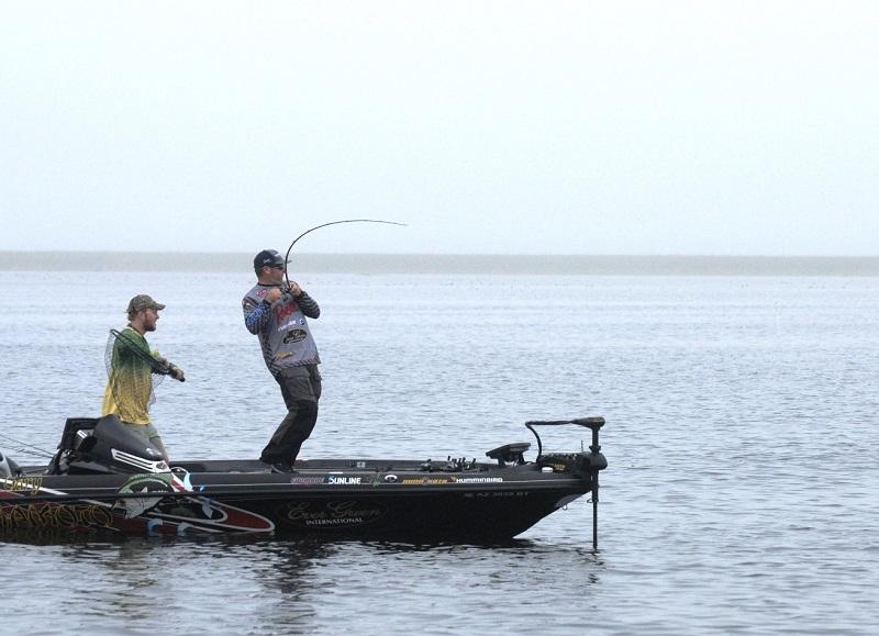 Hite maintains lead at walmart flw tour season opener on for Fishing nets walmart