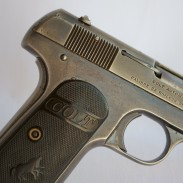The Colt is in pretty good shape for being a hundred years old, give or take a few.
