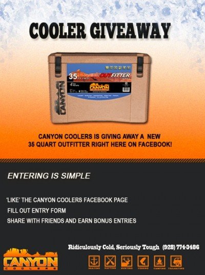 Be part of the 'Coolest' conversation on Facebook, and you could win a new 35 quart cooler!
