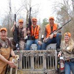 "The author's ""Bone Collector One"" team after the Squirrel Master Classic's morning hunt, with 14 squirrels in the bag."