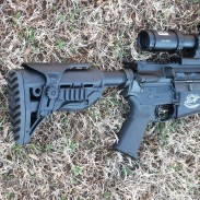 FAB Defense's GL-Shock buttstock for AR-15s.