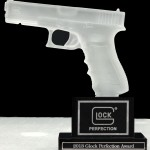 Davidson's irecieves the perfection award from GLOCK.