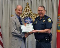 Leon County (FL) Sheriff Larry Campbell is recognized by SPP.