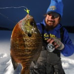 "No tipping required - the lure's ""legs"" give Custom Jigs & Spins' Nuclear Ant plenty of action as well give the jig the slow fall required for panfish suspended just below the hole."