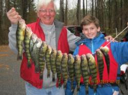 Survey participants showing a successful Yellow Perch trip.
