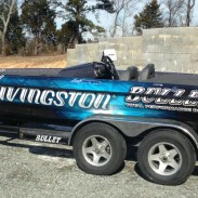 Andy Morgan's new Livingston Lures boat wrap.