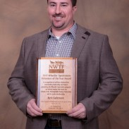 Kyle Lairmore, MDC Statewide Hunter Education and Shooting Range Coordinator, recently received the 2013 National Wild Turkey Federation's Wheelin' Sportsmen Volunteer of the Year Award.