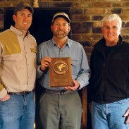 Pictured from left to right: Chad Manlove, Ducks Unlimited managing director of development; Will Primos, Primos founder and Jim West, chief fundraising officer.