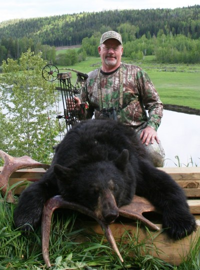 The author took this bear on the sixth day of a British Columbia spot and stalk hunt. He saw a total of 42 bears on the excursion.