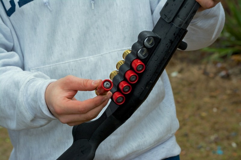 These Winchester one-ounce slugs zipping along at 1,600 feet per second packed a wallop.