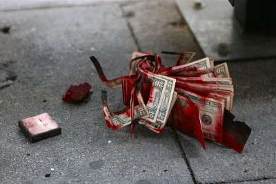 Dye packs mark and destroy stolen currency.