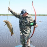 Bowfishing equipment is simple. A recurve bow allows for quick shots. Instinct is the key to making shots on fish; it takes practice but most shots are close.
