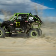 By winning the 2014 San Felipe 250, MB Motorsports / Can-Am pilot Marc Burnett recorded his first Class 19 win and the first-ever victory for a Can-Am side-by-side in a Baja and SCORE competition.