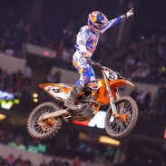 Dungey celebrates his first win in 2014.