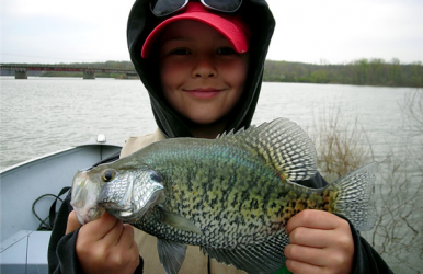 Crappie are famous early-season biters and are typically among the first fish to get active after ice-out.