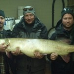 The world-record Great Lakes muskellunge from October 2012.