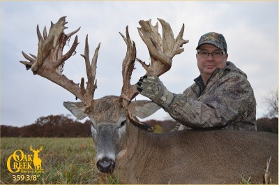 "Oak Creek Whitetail Ranch contributed a ""First Week of the Season"" hunt to DSC's auction."