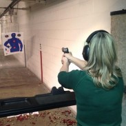 Allison Bell (pictured) enjoys weekly time at Bill's Gun Range in Circle Pines, Minnesota with her husband and professional angler, Jimmy Bell. Image by Jimmy Bell.