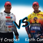 Bassmaster Elite Series anglers Keith Combs and Cliff Crochet face off in fishing contest.