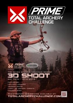 Prime total Archery challenge poster