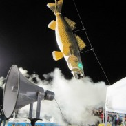 They don't need no stinkin' disco ball in Port Clinton, Ohio. They drop a 600-pound fiberglass walleye replica at Midnight on New Year's Eve. Image courtesy Walleye Madness at Midnight of Port Clinton, Ohio.