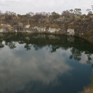Lake Otjikoto (pictured) is the smaller of Namibia's two permanent lakes.