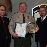 Mike Miller was presented with the Shikar-Safari Club International Wildlife Officer of the Year Award at the Ohio Wildlife Council meeting on Wednesday, Feb. 5 at the Wildlife District One office in Columbus.
