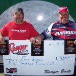 Tony Edger and Travis Lepley won the Semi-Pro Division with a weigh in of 9.86 lbs.