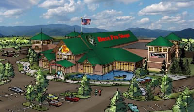 Artist's rendering of Bass Pro Shops Sportsman's Center store in Decatur, Ala.
