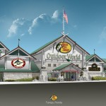Artist's rendering of Bass Pro Shops Outdoor World in Brandon/Tampa, FL.