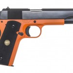 The black and orange Auto Ordnance 1911.